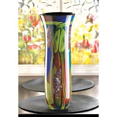 Peacock Fantasy Art Glass Vase