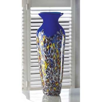 Royal Blue Art Glass Vase