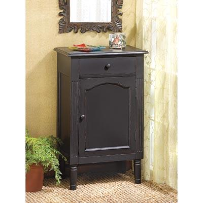 Home Locomotion Antique Black Wood Cabinet at Sears.com