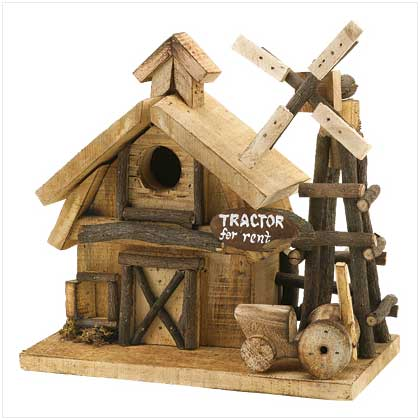Rustic Country Barnyard Outdoor Garden Decor Wood Birdhouse EBay