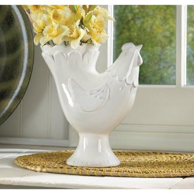 Classic Country Hen Vase