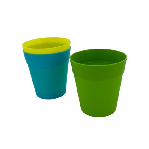 Bulk Buys 5 Inch Flower Pot 3 Assorted Colors Bulk Pots