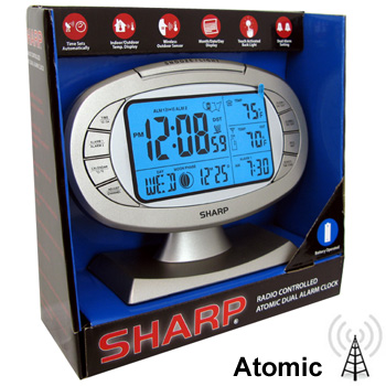 SHARP Digital Atomic Dual Alarm Clock Moldel No  SPC315 049353571393