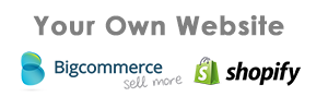We integrate with Big Commerce and Shopify webstores