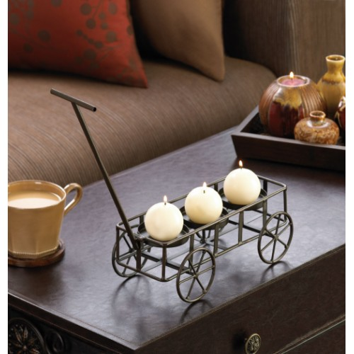 Gallery Of Light Iron Wagon Candle Holder, Wholesale