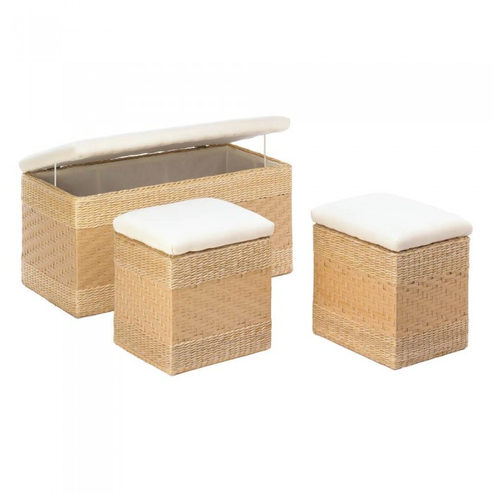 Accent Plus Woven Natural Nesting Storage Trunks